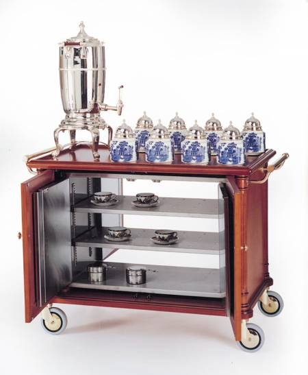 Wood & Silver Plated Tea Trolley