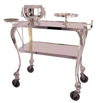 Silver Plated Dessert Trolley