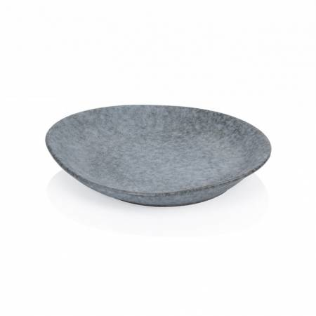Stone Oval Couple Plate 25.4cm